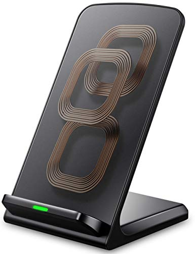 iPhone X Wireless Charger, ELLESYE 3-Coil Qi Wireless Charger Stand for iPhone X, iPhone 8/8 Plus, Galaxy Note 9/S9/S9 Plus/Note8/S8/S8 Plus/S7/S7 Edge/S6 Edge Plus, LG G6 and All QI-Enabled Devices by ELLESYE