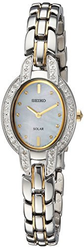 (Seiko Women's TRESSIA Japanese-Quartz Watch with Two-Tone-Stainless-Steel Strap, 9 (Model: SUP325)