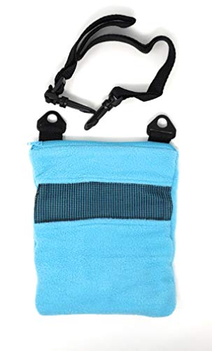 Happy Gross Sugar Glider Bonding Pouch for Sugar Gliders Or Other Small Pets, Great for Bonding, Sleeping, Or Cage (Light Blue)
