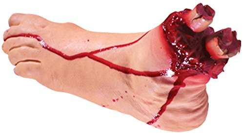 Loftus International Halloween Realistic Severed Bloody Gory Foot Prop Beige Novelty Item ()