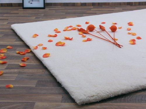 Berber Teppich natur aus 100% Schurwolle Casablanca 18/18 triple Wollweiss in 20 Größen, Größe: 200x250 cm