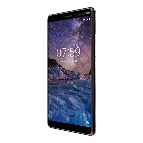 "Nokia 7 Plus (TA-1062) 64GB Black Copper, Dual Sim, 6"", 4RAM, GSM Unlocked International Model, No Warranty"