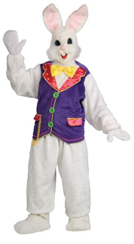 Rubie's mens womens Super Deluxe Bunny Costume, White, One Size