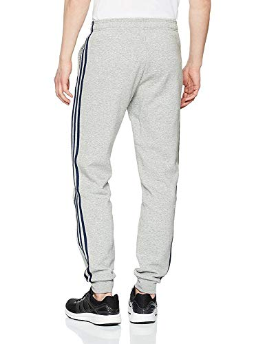 Heather medium Adidas Hommes Pour Grey Avec 3 Pantalon Gris Bandes collegiate Essentials Navy Motif À qq87AvH