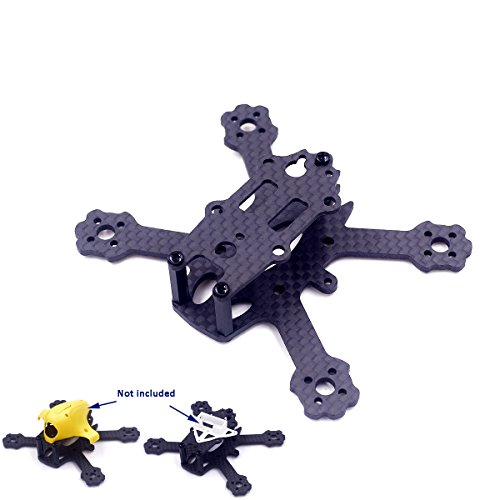usmile X2 TLE 88mm 2 inch Micro Brushless Carbon Fiber Quadcopter Quad Drone Frame for Indoor Outdoor FPV Racing Support for 1104 1102 Motor 2030 2035 1930 Props 2s 300-450mah Battery