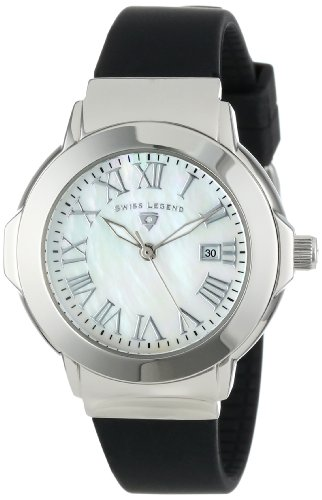 Swiss Legend Women's 20032-02 South Beach Collection Black Rubber Watch