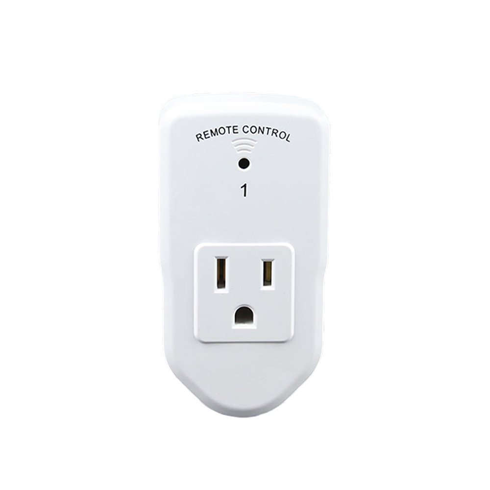 Wireless Remote Control Electrical Outlet Switch for Home Appliances Remote Control Light Switches -5 Pack with 2 Remotes by AZPEN,White by Azpen (Image #2)