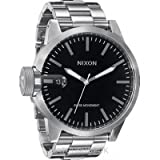 Nixon Men's A198-000 Stainless-Steel Analog Black Dial Watch, Watch Central