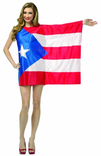 Puerto Rico Flag Dress (Rasta Imposta Flag Dress Puerto Rico, Red/White/Blue, Adult 4-10)
