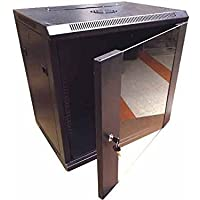 19 12U Wall Mount Network Cabinet Enclosure - Black