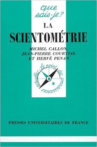 Livres La scientométrie pdf, epub