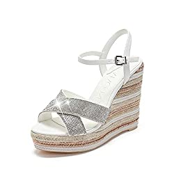 Wedges Platform with Rhinestone Strappy Sandals