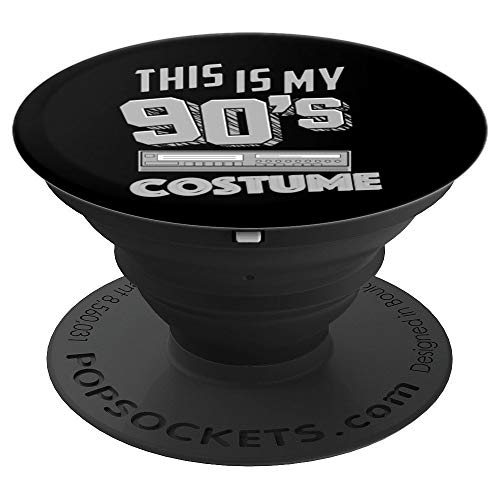 This Is My 90's Costume Art | Funny Halloween Music Gift - PopSockets Grip and Stand for Phones and Tablets