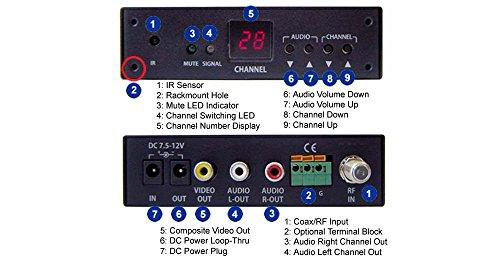A/v Demodulator (Analog NTSC UHF VHF CATV Tuner RF Demodulator With RCA A/V Output)