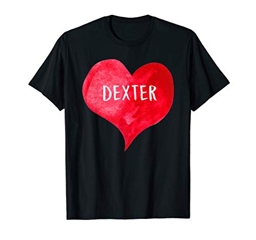Dexter Dark T-shirt - I Love DEXTER - Love Heart shirt, Gifts Valentine's Day T-Shirt