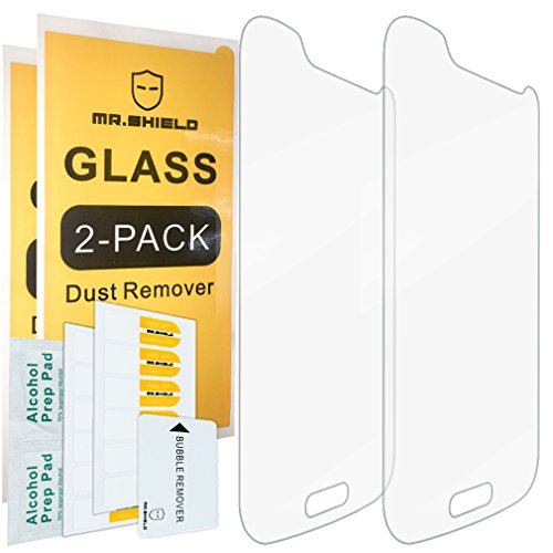 [2-PACK]-Mr Shield For Samsung Galaxy S4 Mini [Tempered Glass] Screen Protector with Lifetime Replacement Warranty…