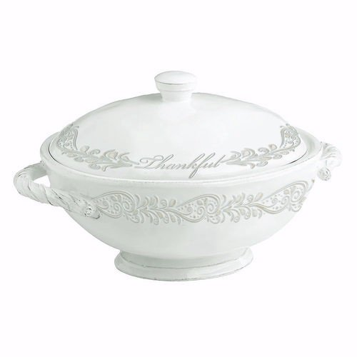 Divinity Boutique 24570 Thankful Collection Soup Tureen, Multicolor (Tureen Multi Color)
