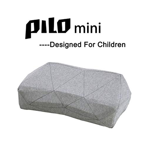 PiloMini Smart Music Pillow for Kids, 90D Memory Foam Pillow, Ergonomic Design, Sleep-aid Pillow, Sound Therapy, Neck Support, Classic Gray … by Pilo