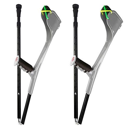 Ultra Crutches Aluminum Forearm Adult Forearm Lightweight Arm Cuff Crutch Adjustable Heavy Duty for Standard Ergonomic Comfortable on Wrist (1 Pair)