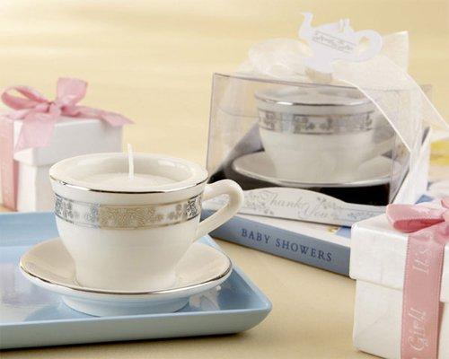 Teacups and Tealights Miniature Porcelain Tealight Holders [SET OF 24]