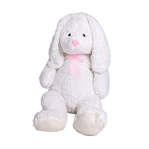 Plush Bunny Rabbit Big Stuffed Animal With Long Ears 40 Inches White By HollyHOME - Bunny Rabbit Toy