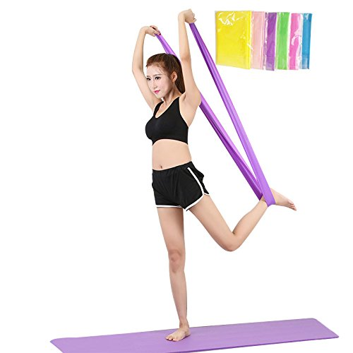 Eleganantamazing Fitness - Banda de Resistencia Multifuncional con Cuerda elá stica, Color al Azar elegantstunning