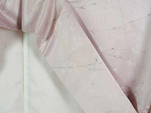 リサイクル小紋 / 正絹藤色地袷小紋着物 / レディース【裄Mサイズ】(普段着 中古小紋 リサイクル 小紋 リサイクル着物 )【ランクC】