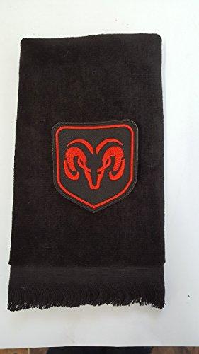 Ram Golf Towel Vintage Black Applique Auto Car Truck ()