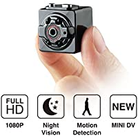 Kingslim 1080P HD Mini Hidden Camera Portable Motion Detection Wireless Body Camera Video Recorder Surveillance Spy Nanny Cam for Indoor and Outdoor