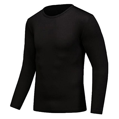 Century Star Men's Sun Protective Long Sleeves Sportswear Quick-drying T-shirts Black M