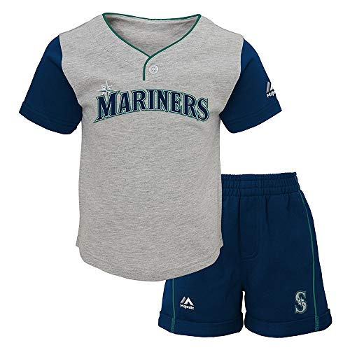 (Outerstuff Seattle Mariners MLB Batting Practice T-Shirt & Shorts Set Infant (12M-24M))