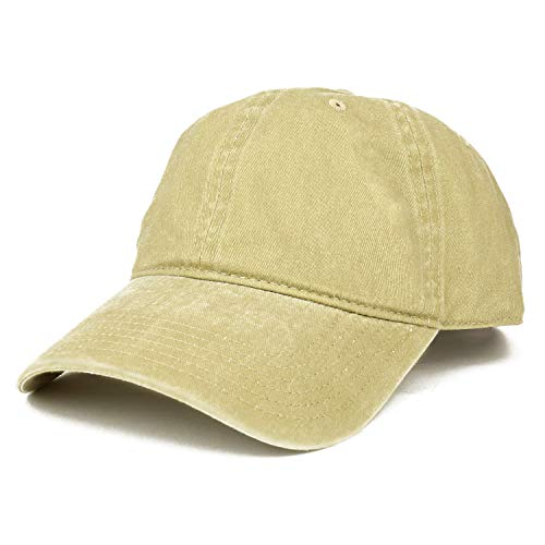 Armycrew XXL Oversize Big Washed Cotton Pigment Dyed Unstructured Baseball Cap - Khaki ()