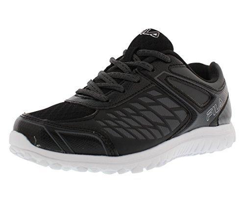 (Fila Lightning Strike Boys Athletic Shoes Size US 2.5, Regular Width, Color Black/Grey)