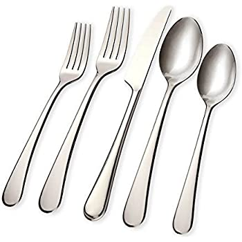 Hampton Forge Skandia 20-Piece Mirabella Flatware Set, Dinnerware Service For 4