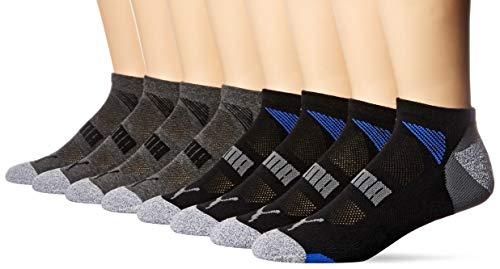 (PUMA Men's No Show Socks, Black (8-Pack))