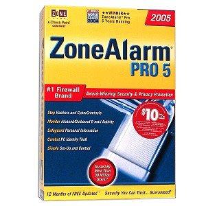 (Zone Alarm Pro 5 (2005) Firewall Software)