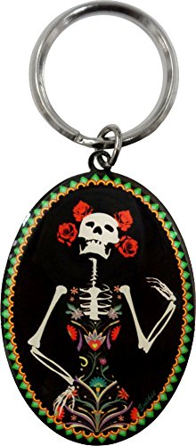 La Calavera Catrina Skeleton Day of the Dead Keychain -