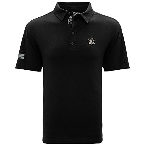 Levelwear LEY9R NBA Boston Celtics Adult Men Reign Insignia Dart Polo, X-Large, Black