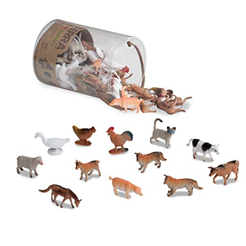 - Terra by Battat - Farm Animals - Assorted Miniature Farm Animal Toy Figures & Cake Toppers For Kids 3+ (60 Pc)
