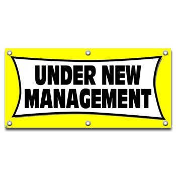 Under New Management - Retail Store Business Sign Banner