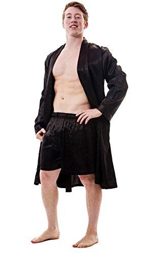 (Up2date Fashion Men's Robe Set, Style Gwn51GFSXLargeBlack)