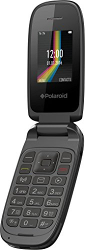 (Polaroid Link A2 Flip Phone 2G GSM Unlocked Dual Sim Bluetooth Radio FM Mp3 Player, Black (Worry-Free 12-Month Warranty Included))