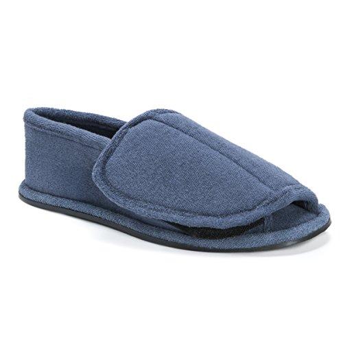 MUK LUKS Men's Velcro Open Toe Slippers