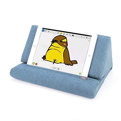 IPEVO PadPillow Stand for iPad Air & iPad 4/3/2/1Nexus/Galaxy - Blue Denim (MEPX-07IP) (Pyramid Reading For Pillows)