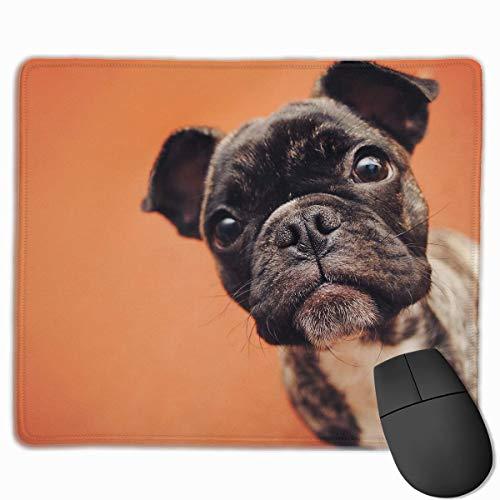 Customized Design Rectangle Non-Slip Rubber Gaming Mousepad (Cute French Bulldog Puppy)]()