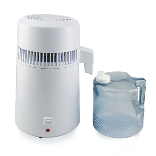 CO-Z 4 Liter Home Countertop Water Distiller Machine with Connection Bottle and Stainless Outlet by CO-Z