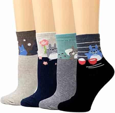 58c7fe506c794 LIVEBEAR Womens Cute Mini Print Funny Novelty Crew Socks Made In Korea