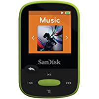 SANDISK SDMX24-008G-A46L 8GB 1.44 Clip Sport MP3 Players (Lime Green)