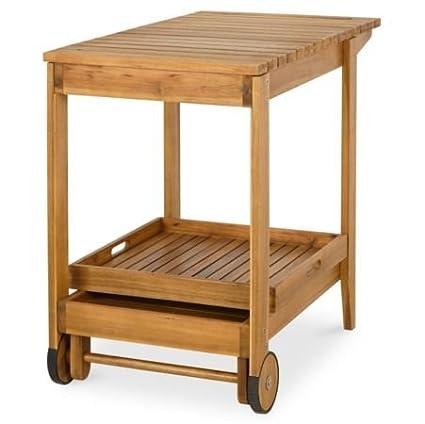 Amazon.com : Denia Wooden Garden Trolley : Garden & Outdoor