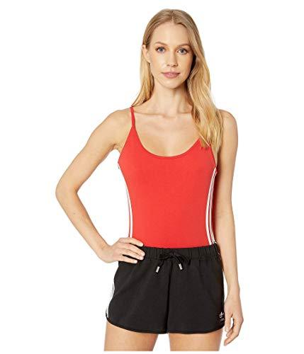 adidas Originals Women's Cotton Bodysuit, Lush Red/White, S